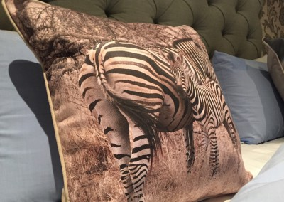 Zebra Cushion on the Bed