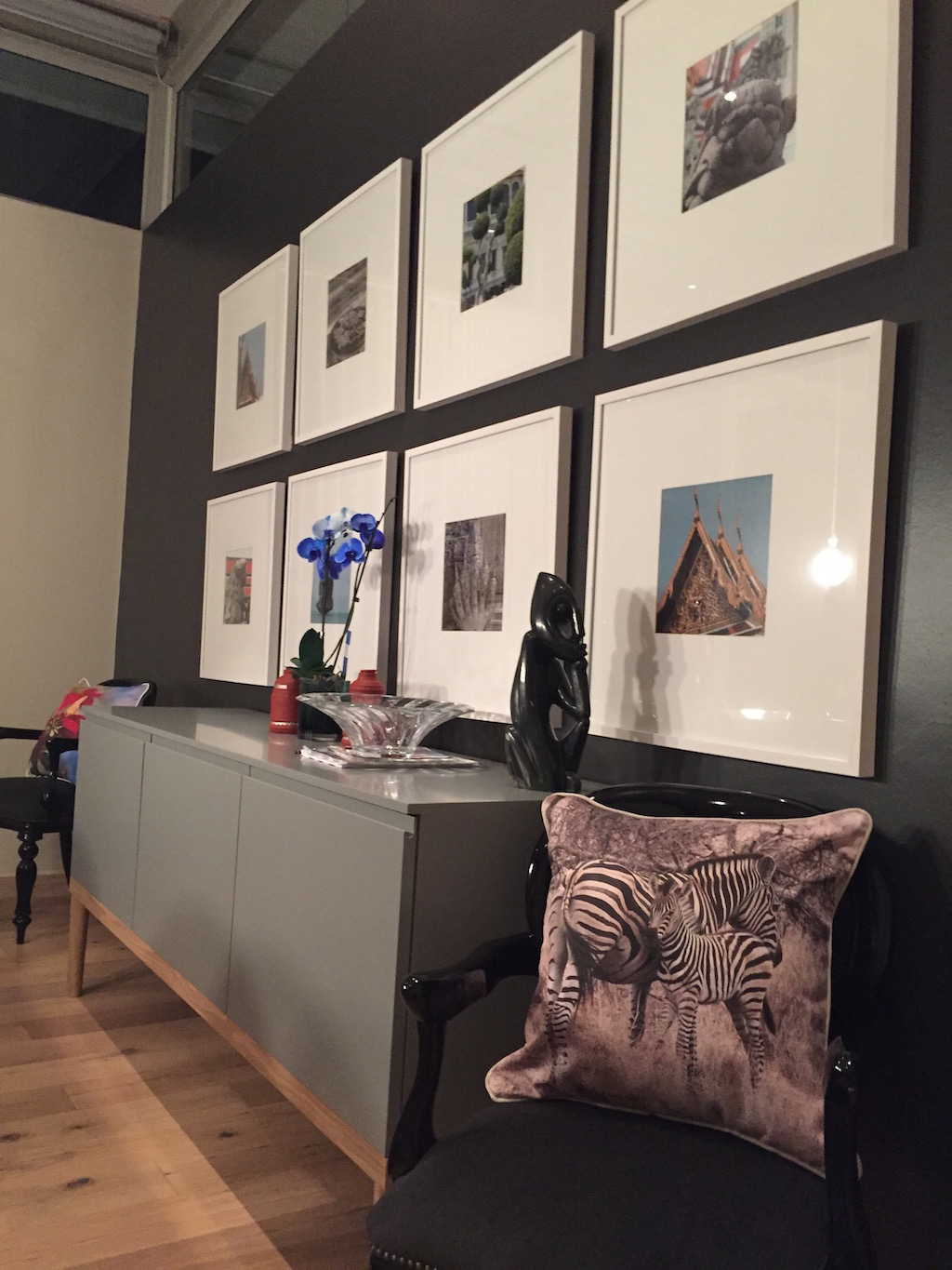 Zebra Cushion and Frames
