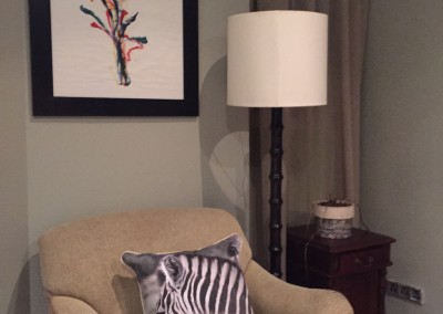 Zebra Cushion Cover in the Study