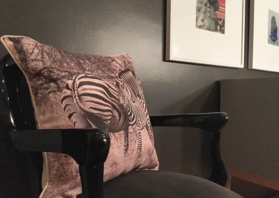 Zebra Cushion up close